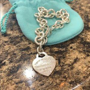 Tiffany & Co.  heart tag charm bracelet!